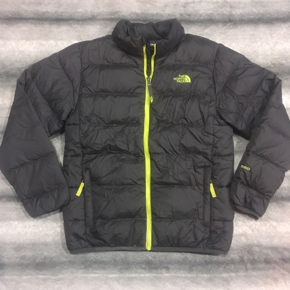 The North Face Boys Gray Andes Down Jacket - Large 19d563a76